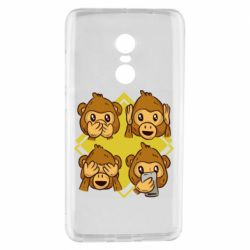 Чехол для Xiaomi Redmi Note 4 Monkey See Hear Talk