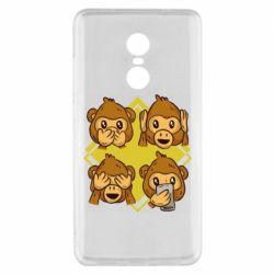 Чехол для Xiaomi Redmi Note 4x Monkey See Hear Talk