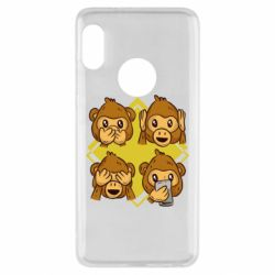 Чехол для Xiaomi Redmi Note 5 Monkey See Hear Talk