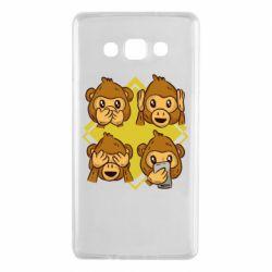 Чехол для Samsung A7 2015 Monkey See Hear Talk