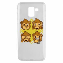Чехол для Samsung J6 Monkey See Hear Talk