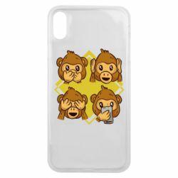 Чехол для iPhone Xs Max Monkey See Hear Talk