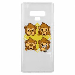 Чехол для Samsung Note 9 Monkey See Hear Talk