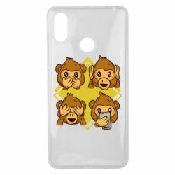 Чехол для Xiaomi Mi Max 3 Monkey See Hear Talk