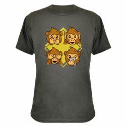 Камуфляжная футболка Monkey See Hear Talk