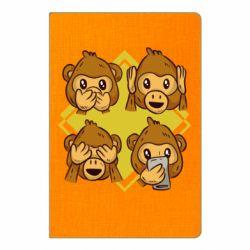 Блокнот А5 Monkey See Hear Talk