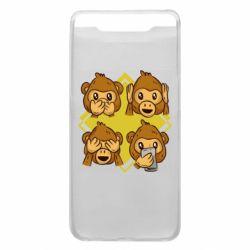 Чехол для Samsung A80 Monkey See Hear Talk