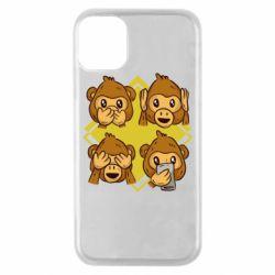 Чехол для iPhone 11 Pro Monkey See Hear Talk