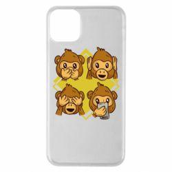Чехол для iPhone 11 Pro Max Monkey See Hear Talk