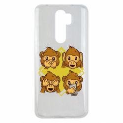 Чехол для Xiaomi Redmi Note 8 Pro Monkey See Hear Talk