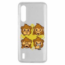 Чехол для Xiaomi Mi9 Lite Monkey See Hear Talk