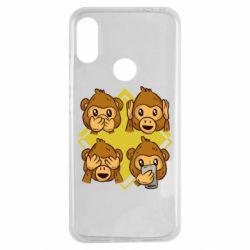 Чехол для Xiaomi Redmi Note 7 Monkey See Hear Talk