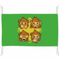 Флаг Monkey See Hear Talk