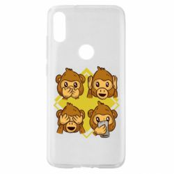Чехол для Xiaomi Mi Play Monkey See Hear Talk