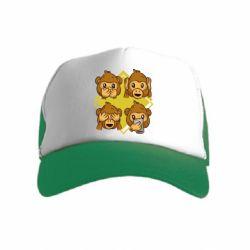 Детская кепка-тракер Monkey See Hear Talk