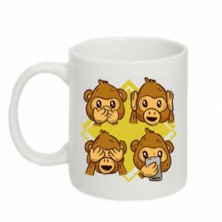 Кружка 320ml Monkey See Hear Talk