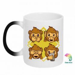 Кружка-хамелеон Monkey See Hear Talk