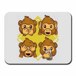 Коврик для мыши Monkey See Hear Talk