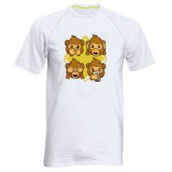 Мужская спортивная футболка Monkey See Hear Talk