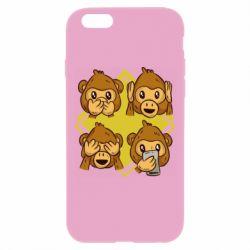 Чехол для iPhone 6 Plus/6S Plus Monkey See Hear Talk