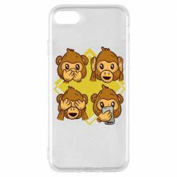 Чехол для iPhone 7 Monkey See Hear Talk