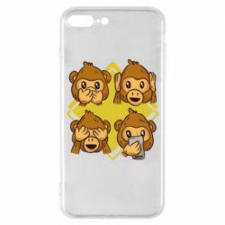 Чехол для iPhone 7 Plus Monkey See Hear Talk