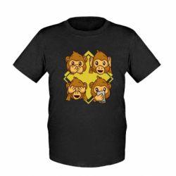 Детская футболка Monkey See Hear Talk