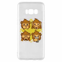 Чехол для Samsung S8 Monkey See Hear Talk