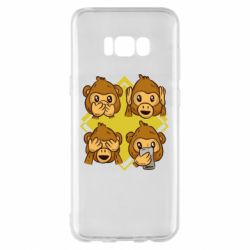Чехол для Samsung S8+ Monkey See Hear Talk