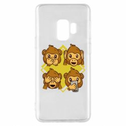 Чехол для Samsung S9 Monkey See Hear Talk