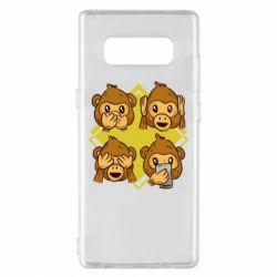 Чехол для Samsung Note 8 Monkey See Hear Talk