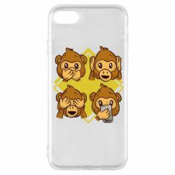 Чехол для iPhone 8 Monkey See Hear Talk