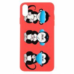 Чохол для iPhone Xs Max Monkeys in medical masks