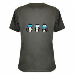 Камуфляжна футболка Monkeys in medical masks