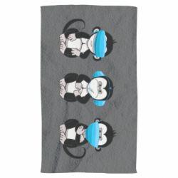 Рушник Monkeys in medical masks