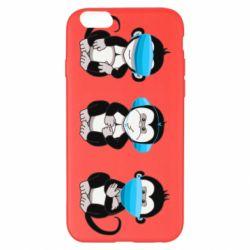 Чохол для iPhone 6 Plus/6S Plus Monkeys in medical masks
