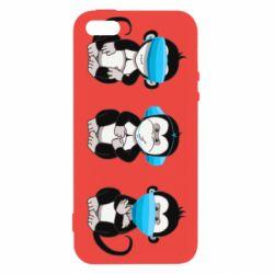 Чохол для iPhone 5 Monkeys in medical masks