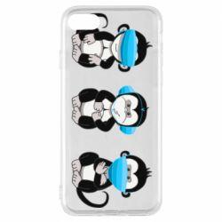 Чохол для iPhone 8 Monkeys in medical masks
