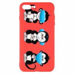 Чохол для iPhone 8 Plus Monkeys in medical masks