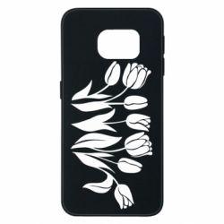 Чохол для Samsung S6 EDGE Monochrome tulips