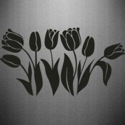 Наклейка Monochrome tulips