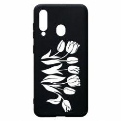 Чохол для Samsung A60 Monochrome tulips