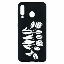 Чохол для Samsung M30 Monochrome tulips