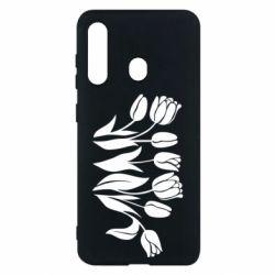 Чохол для Samsung M40 Monochrome tulips