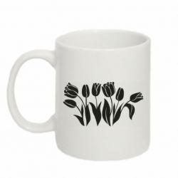 Кружка 320ml Monochrome tulips