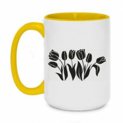 Кружка двоколірна 420ml Monochrome tulips