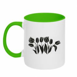 Кружка двоколірна 320ml Monochrome tulips