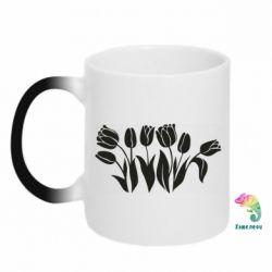 Кружка-хамелеон Monochrome tulips