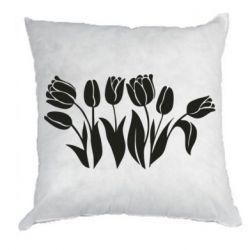 Подушка Monochrome tulips