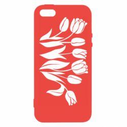 Чохол для iphone 5/5S/SE Monochrome tulips